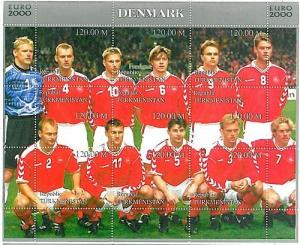 FOOTBALL - STAMPS: Turkmenistan - EURO 2000: DENMARK