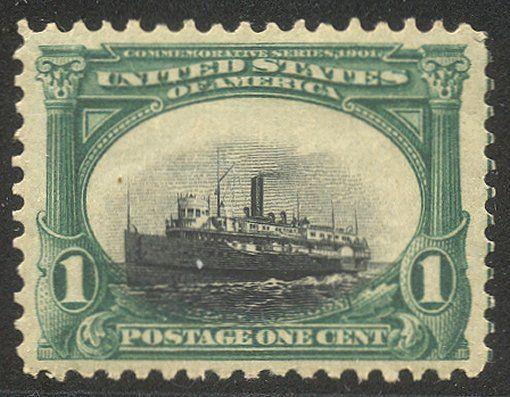U.S. #294 var CHOICE MInt XF NH - 1901 1c Pan-American