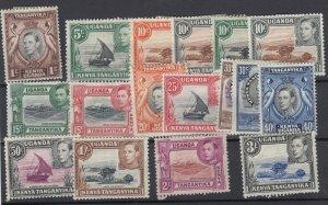 Kenya Uganda & Tanganyika KGVI 1938 Set To 3/- (With Colour Changes) MH JK404