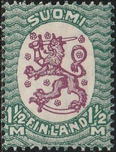 Finland, #135 MH From 1925