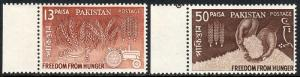 Pakistan 176-177, MNH. FAO Freedom from Hunger campaign, 1963