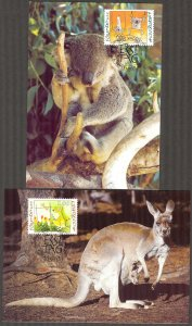 Liechtenstein 2000 Olympics Games Sydney 2000 4 Maxi Cards FDC 2 scans