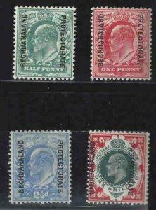 Bechuanaland 1904-1912 SC 76-79 MLH Set