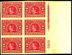 U.S. #371 MINT PL# BLOCK OG NH