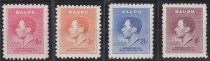 Nauru 35-38 MNH (1937)
