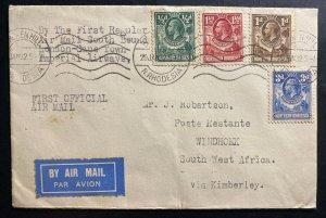 1932 Broken Hill Northern Rhodesia First Flight Cover FFC To Windhoek SWA