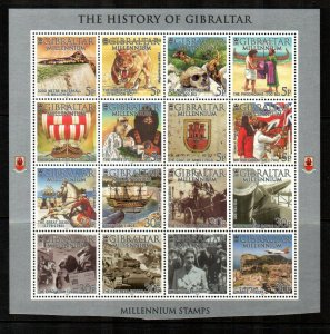 Gibraltar 2000, MNH Sheet of 16 Millennium # 841