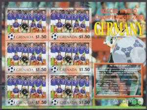 2006 Grenada 5730KL 2006 FIFA World Cup Germany( France ) 9,00 €