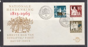 NETHERLANDS, 1963 Kingdom of the Netherlands set of 3 on First Day cover.