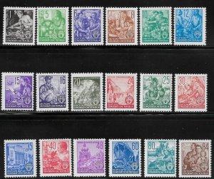 Germany DDR - Scott #155-71 - F- VF - Mint Never Hinged (NH)