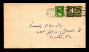 SC# 705 & 1c Stationary FDC / No Cachet - N431