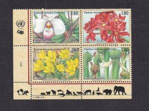 United Nations Geneva  #280-283a  MNH  1996 endangered species  block of 4