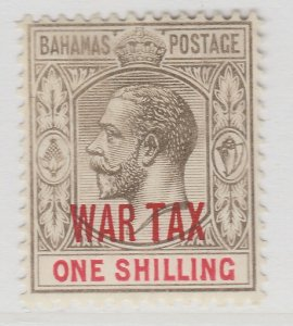 British Colony Bahamas War Tax 1918 Wmk Mult Crown CA 1s MH* Stamp A22P15F8695