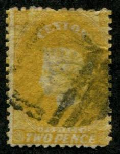Ceylon SC#48A Victoria, 2d, canceled