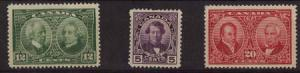 Canada - 1927 Historical Issue Complete Set mint #146-148