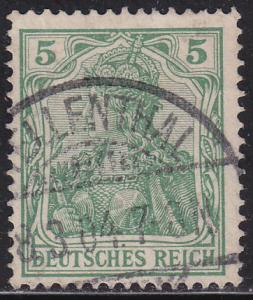 Germany 67 USED 1902 Germania 5pf