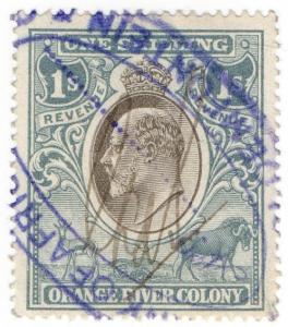 (I.B) Orange River Colony Revenue : Duty Stamp 1/-