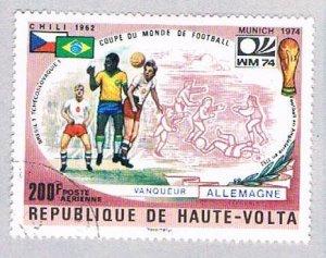 Burkina Faso C198 Used Soccer 1974 (BP4846)