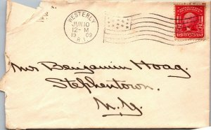 Westerly RI > Stephentown NY 1909 stamped cover Hoag