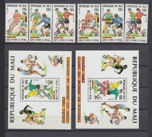 Z4097, 1982 mali mnh set + s/s + ovpt set  #c447-50, c458-61 sports