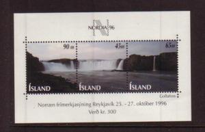 Iceland Sc 830 1996 NORDIA '96  stamp sheet mint NH