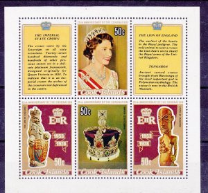 Cook Islands MNH S/S 486D 25th Anniversary Of Coronation QE II 1978