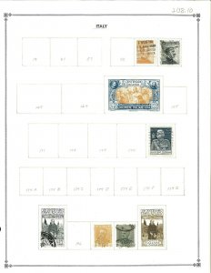 Italty 1917-1945 M & U Hinged on Blank Scott International Pages.