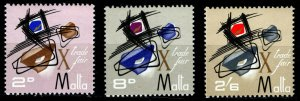 Malta Sc #355 to 357 - The 10th Malta Trade Fair - 1966 - MNH