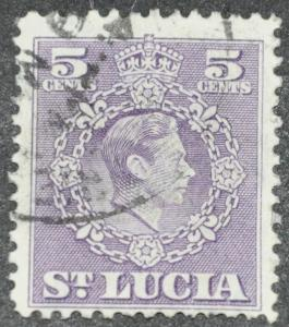 DYNAMITE Stamps: St. Lucia Scott #139 - USED