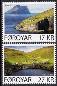 FAROE ISLANDS 2021 SCENERY ISLANDS KIRKJA HATTARVIK [#2103]