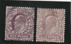 Great Britain  Scott#  135, 135c  Used