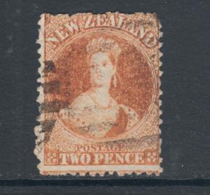 New Zealand Sc 40, SG 133, used 1873 2p orange, sound, perf 12½, lt. oxidiz Cert