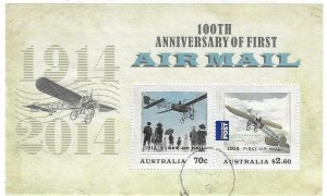 2014   AUSTRALIA  -  SG.  MS 4192  -  FIRST AIR MAIL CENTENARY  -  USED