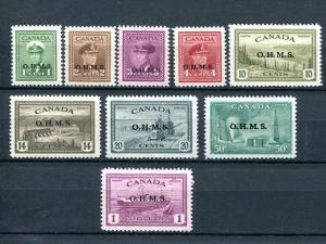 Canada #O1/O11  Mint VF  -   Lakeshore Philatelics