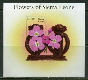 SIERRA LEONE FLOWERS OF SIERRA LEONE  SOUVENIR SHEET I  MINT NH