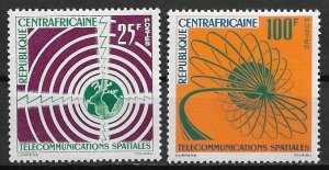 1963 Central Africa #25-6 Space Communication MNH C/S of 2