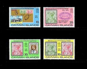 CAYMAN IS - 1976 - FIRST POSTAGE - POST OFFICE - STAMP ON STAMP - MINT MNH SET!
