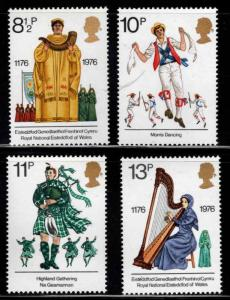 Great Britain Scott 790-793 MNH** 1976 cultural traditions set