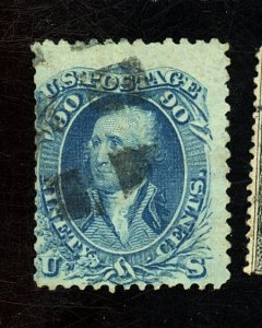 72 USED FINE REPERFED RIGHT Cat $600