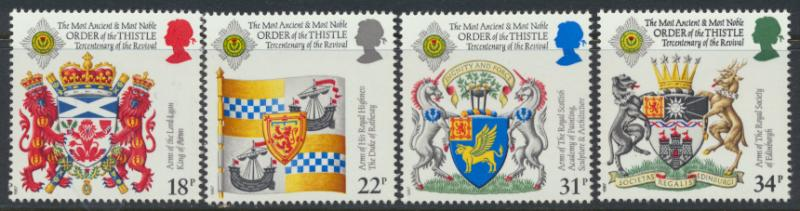 GB SG 1363 - 1366  SC# 1184-1187 MNH  - Revival of the Order of the Thistle