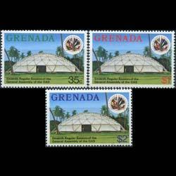 GRENADA 1977 - Scott# 802-4 OAS Assembly-Tent Set of 3 LH