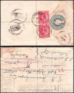 Goldpath: India registered cover 1903   _CV23_P11