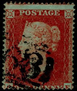 SG17, 1d red-brown, SC16 DIE I, USED. Cat £30.