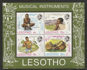 Lesotho 177a 1975 Musical Instruments s.s. NH