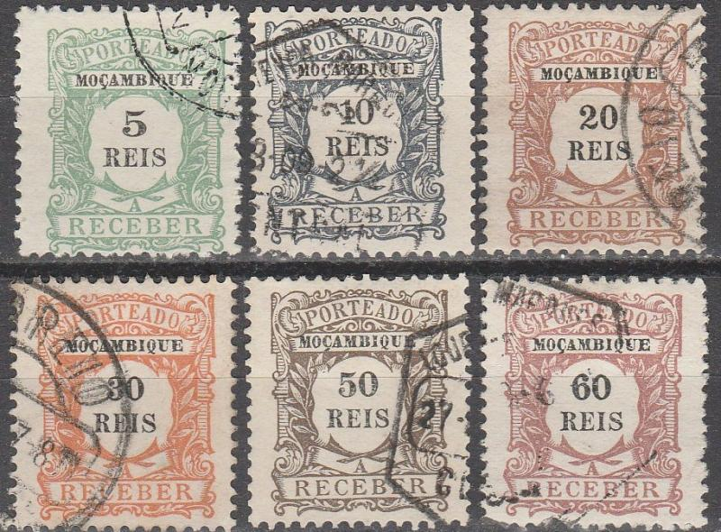 Mozambique #J1-6 F-VF Used CV $3.75 (A15026)