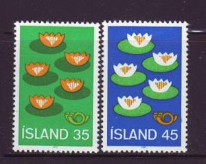 Iceland Sc 496-7 1977 Nordic Cooperation stamp set  mint NH