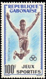 Gabon #163-164, C6, Complete Set(3), 1962, Sports, Soccer, Never Hinged