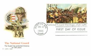 #UX114 National Guard Heritage Post Card - Fleetwood Cachet