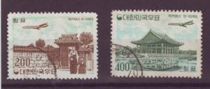 J96 jls stamps 1961 so korea hv,s set airplane airmails used