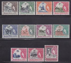 Basutoland # 59-71 mint VF-lightly hinged set nice colors cv $ 128 ! see pic !